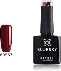 Beauty 360 No Light Gel Polish Review Bluesky Gel Nail Polish Tinted Love 80557 Dark Red Uv Led Soak Off Gel Polish 10ml