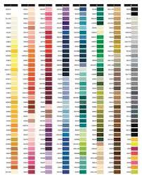 Mettler Thread Color Chart Free Exquisite Poly Thread Color Chart Page 1 Embroidery