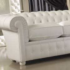 luxury italian premium white leather sofa