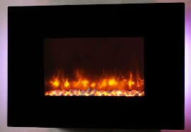 dynasty 36 in wall mount electric fireplace w pebbles ef67 p