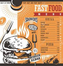 Food Menu Design Fast Food Restaurant Menu Design Idea Royalty Free Cliparts Vectors
