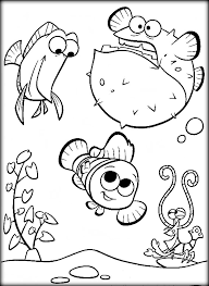 Finding Nemo Coloring Pages Color Zini