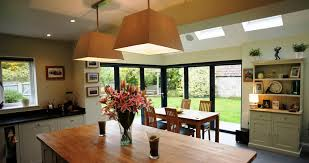 a 6 part bi fold door with floating corner pillar creates a wow factor to the