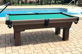 outdoor pool table in clients backyard billiard cover australia