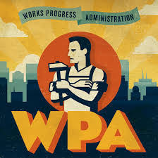 Image result for When the WPA was disbanded in 1943, it had employed more than 8.5 million Americans on 1.4 million public projects.
