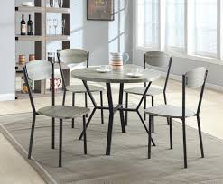 grey wood dining chairs. Crown Mark Blake 5 Piece Dining Set With Round Table In Gray Wood Finish | Wayside Furniture Sets Grey Chairs