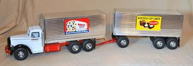 S M Fred Thompson Custom Wonder Bread Truck W Pup Trailer