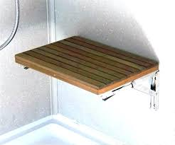 fold down shower seat teak away reviews t bench exquisite in wide wall mount