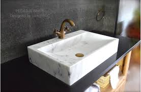 24 white marble bathroom sink stone pegasus white