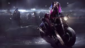 Harley Quinn On Bike 4k-wallpapers ...