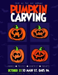 Pumpkin Carving Contest Flyers 60 Customizable Design Templates For Kürbis Carving Wettbewerb