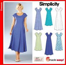 A Line Dress Pattern Best Simplicity 48 Princess Line Dress
