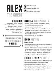 Great Resume Alexander the Great Resume Badass Resume Company 60