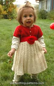 Dress Patterns For Toddlers Magnificent ABC Knitting Patterns Toddler Christmas Dress