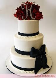Deep Red Rose Wedding Cake