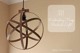 dear emmeline embroidery hoop diy light fixture