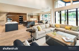 Interior Design For Kitchen And Living Room Beautiful Living Room Interior New Luxury Stock Photo 360591482
