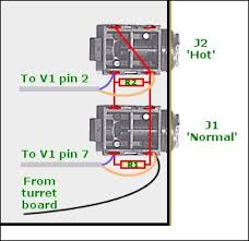 pp 18 construction guide chassis wiring guide i the signal wires i e the thin central wires that are coloured blue in the diagram connect as follows j1 to pin 7 and j2 to pin 2
