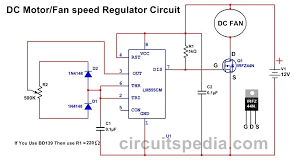 12v dc fan motor speed controller circuit diagram dc fan speed dc motor speed control circuit diagram using 555 timer