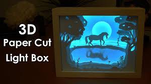 3d Photo Light Box How To Create A 3d Paper Cut Light Box Diy Project