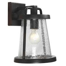 Small Picture Home Decorators Collection Gale 1 Light Black Outdoor Wall Lantern