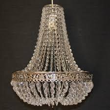 large empire chandelier acrylic crystal chrome