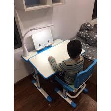 Bàn học chống gù chống cận JD-302 bàn học thông minh bàn học cho trẻ nâng  hạ độ cao có đèn led - đai chống gù- đệm ghế tại Hà Nội