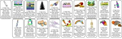 Al Hamichya Chart Bracha Prayer Cards