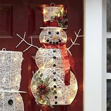 snowman decoration outdoor decorations wooden ideas handprint ornaments to make frosty the indoor