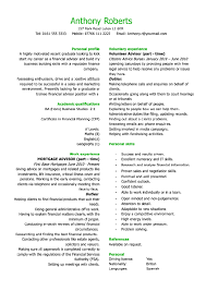Resume Layout Examples Best CV Layout Character Fonts Personal Details CV Template Profile