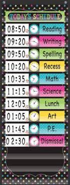 14 Pocket Daily Schedule Pocket Chart Chalkboard Brights