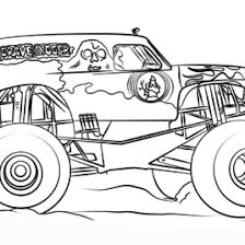 Small Picture Coloring Pages Of Monster Trucks Grave Digger Archives Mente