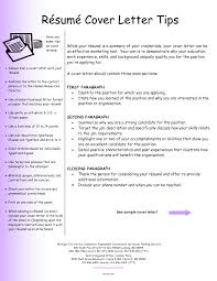 Resume Cover Letter Tips Sugarflesh