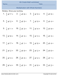 Worksheets For Fraction Multiplication 5th Grade Mixed Fractions ...