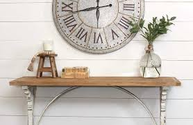 distressed entry table. distressed white corbel entry table