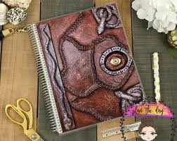 hocus pocus spell book laminated planner cover for erin condren life planner plum paper planner or happy planner