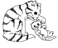 Dogs And Cats Coloring Pages Cat Dogs And Cats Printable Coloring
