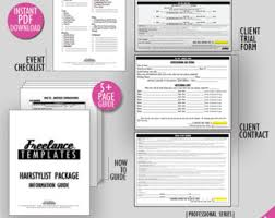 freelance hairstylist contracts package wedding instant hairstylist business forms freelance wedding hairstylist forms