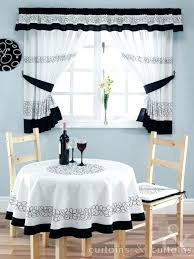 Kitchen Curtains Black And White