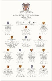 Coat Of Arms King Arthurs Court Monogram Wedding Seating