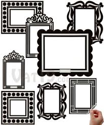 picture frames on wall. Removable And Reusable Decorative Picture Frame Wall Decals (set Of 8). Frames On