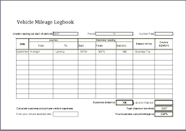 vehicle mileage form mileage template excel mileage log template mileage claim form