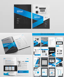 Minimal Indesign Annual Report Design Free Template Templates With