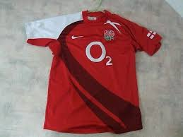 youths nike england rugby union 02 pro fit rugby shirt small red white ap ap 20