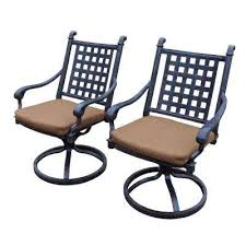 belmont aluminum patio dining chair with sunbrella canvas teak cushion 2 pack