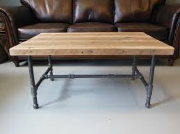 wood coffee table legs industrial