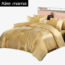 jacquard bedding set bed set super king 100 cotton duvet cover set pillow covers bed sheets linens luxury bedding gold king duvet cover clearance bedroom