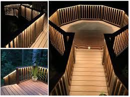 outdoor led deck lights. outdoor-led-strip-on-deck outdoor led deck lights e
