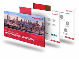Exxon Logo Designer Exxon Mobil Powerpoint Designers Presentation Pitch