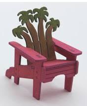 Palm Tree Adirondack Chair, qtr scale